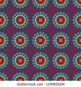 Shweshwe pattern purple and blue