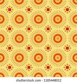 Shweshwe sun pattern