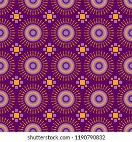 Shweshwe sun pattern purple