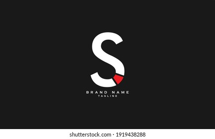 SI, IS, Abstract initial monogram letter alphabet logo design