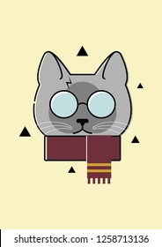 Siamese cat playing Harry Potter