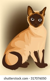 siamese cat vector
