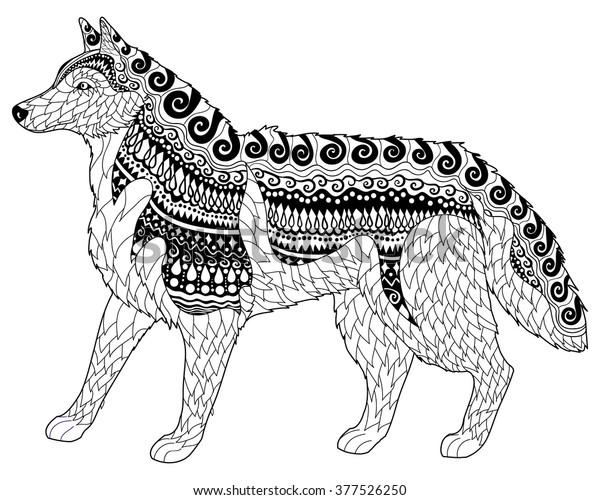 - Siberian Husky High Details Adult Antistress Stock Vector (Royalty Free)  377526250