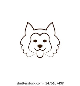 Siberian husky icon. One of the dog breeds hand draw icon