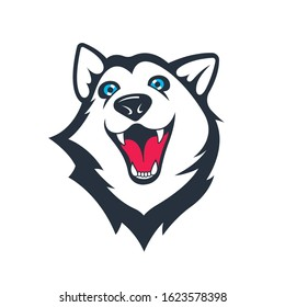 Siberian husky stickers. Dog in different emotions. Illustrations for prints, logos, websites, and apps.