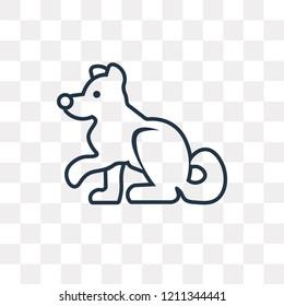 Siberian Husky Vector Outline Icon Isolated Stock Vector Royalty