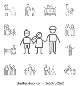 Siblings, family icon. Family life icons universal set for web and mobile