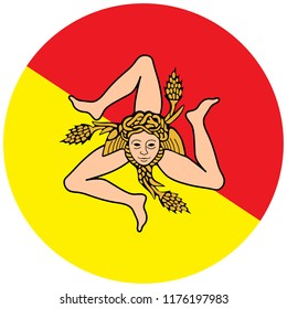 Sicilian flag vector. Flag of Sicily, Italy region