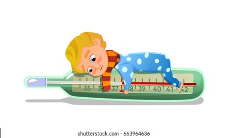 Fieber Kind Stock Vectors Images Vector Art Shutterstock