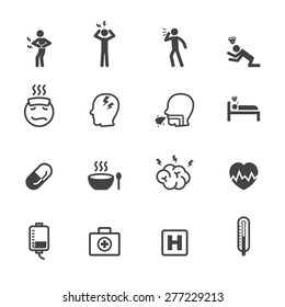 sick icons, mono vector symbols
