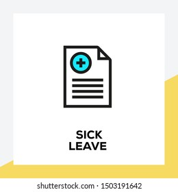 SICK LEAVE AND ILLUSTRATION ICON CONCEPT