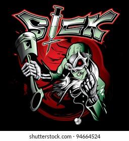 sick skeleton doctor