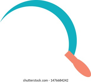 Sickle reaping hook sign trendy icon on white background for web graphic