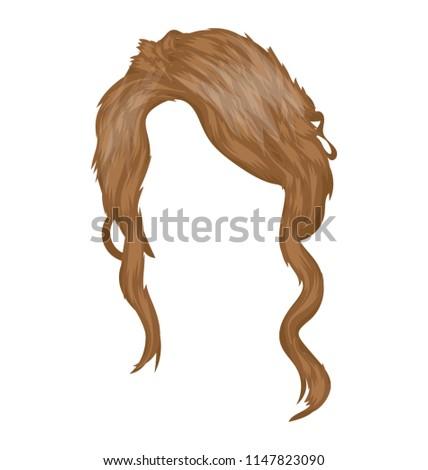Side Girl Shoulder Length Hair Half Stock Vector Royalty Free