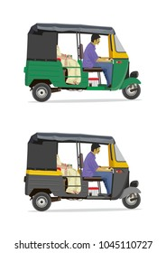 Side view Auto rickshaw