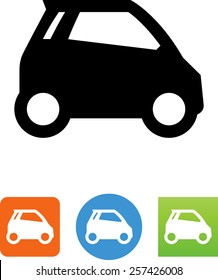 Side view of a smart car icon