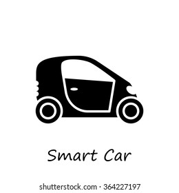Side view of a smart car. Vector icons for video, mobile apps, Web sites and print projects.