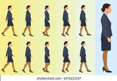 Side Walk Cycle for Business Woman
