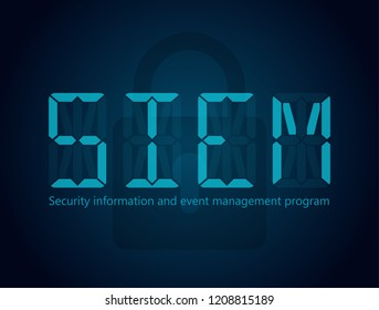 SIEM Security information and event management program