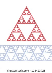 Sierpinski triangle vector, depth 6