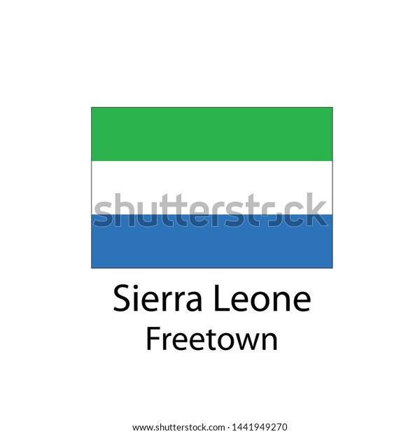 Sierra Leone Country Flag Capital Name Stock Vector (Royalty Free ...