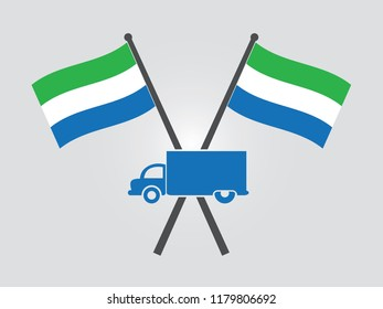 Sierra Leone Emblem Truck Delivery