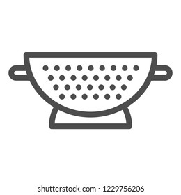Sieve line icon. Colander vector illustration isolated on white. Sifter outline style design, designed for web and app. Eps 10