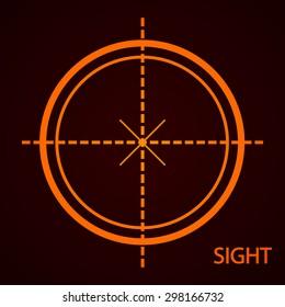 Sight device icon. Flat design style modern vector illustration.