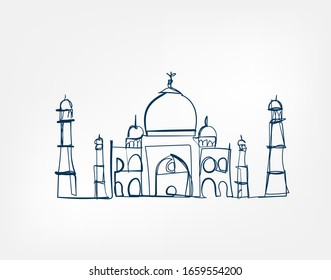 Sight vector art line isolated doodle illustration