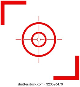 Sight vector icon.
