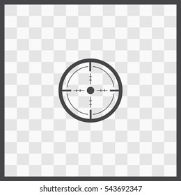 Sight vector icon. Isolated illustration. Business picture.
