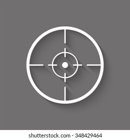sight vector icon with shadow