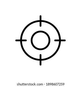 Sight Vector line icon Editable stroke. hunting icon simple icon isolated