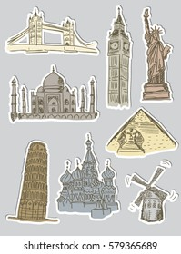Sightseeing stickers