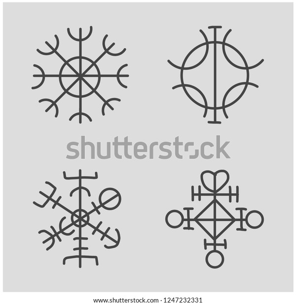 Sigil Protection Magical Amulets Can Be Stock Vector