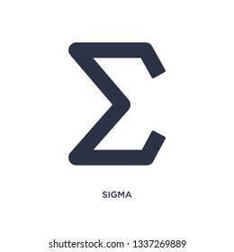 sigma icon. Simple element illustration from greece concept. sigma editable symbol design on white background. Can be use for web and mobile.
