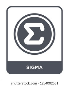 sigma icon vector on white background, sigma trendy filled icons from Greece collection, sigma simple element illustration