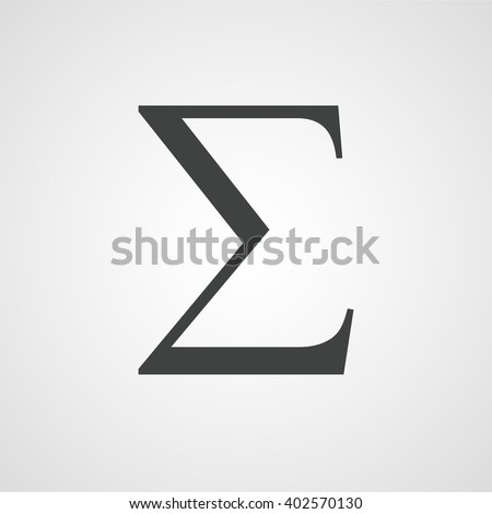 Sigma Symbol Latin Letter Sign Vector Stock Vector Royalty Free