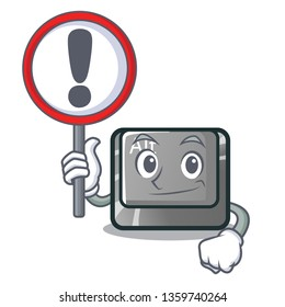 With sign alt button in the cartoon shape