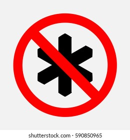Sign ban of cold.