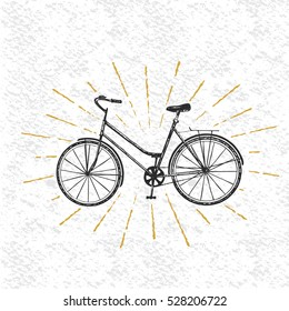 Sign of bicycle isolated on white background.Vector symbol