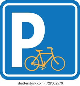 Sign Bicycle parking . Vector