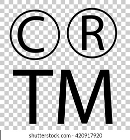 Sign - C R and TM