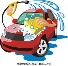 sign a car body washing