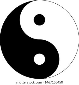 Sign of Chinese philosophy of the symbol of Confucianism. Icon symbolizing the unity of Yin and Yang, feng shui. Yin and yang symbol. Icon. Logo.
