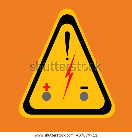 Sign Danger High Voltage Symbol Isolated Stock Vector Royalty Free