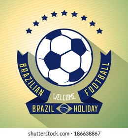 Sign design invitations for football holiday in Brazil. Effect exposed. Flat vector eps 10