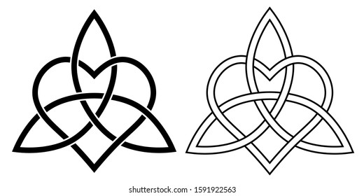 Sign eternal love heart intertwined with Lotus flower. vector sign of infinite love and loyalty heartiness.