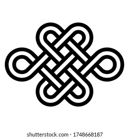 Sign of eternal youth, beauty and health, vector node of longevity without end and beginning. Symbol of the energy balance needed for a healthy and happy life