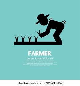 Sign Of Farmer Vector Illustration